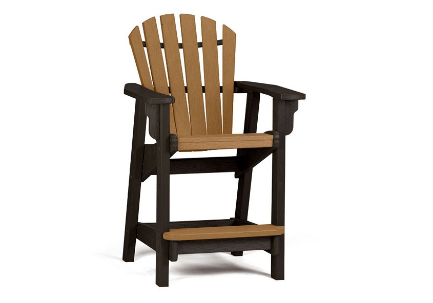 Coastal Counter Chair Poly Resin Furniture Pool City
