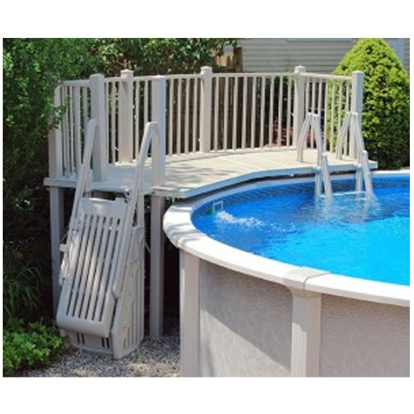5u0027x13.5u0027 Resin Pool Deck With Steps And Gate