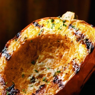 Acorn Squash with Asiago and Sage