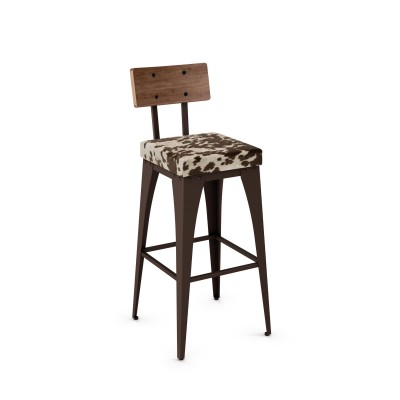 Upright Upholstered Non-Swivel Stool