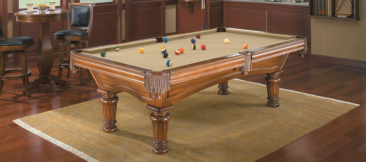 Glenwood Billiard Table By Brunswick Authentic Collection - Brunswick greenbriar pool table