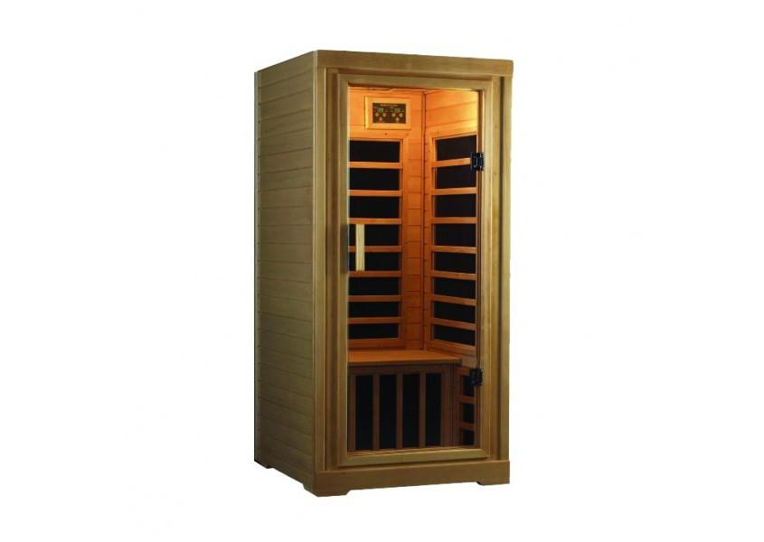 deluxe one person sauna saunas pool city. Black Bedroom Furniture Sets. Home Design Ideas