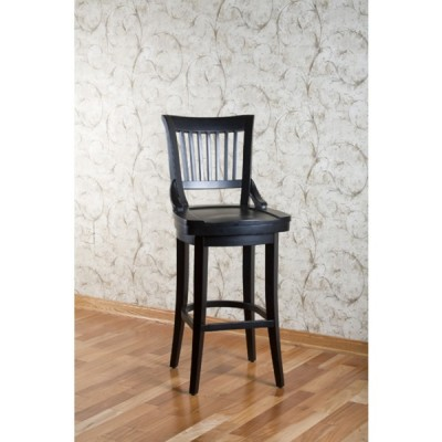 Liberty Wood Barstool in Black