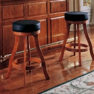 Designer Bar Stool in Fruitwood